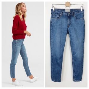 Everlane Ankle Skinny Jeans in Mid Blue